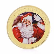 USA 2016 Santa Claus - Season's Greetings Christmas Ltd Edition Gold Plated Coin