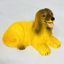 """Vintage New-Ray Soft Rubber Afghan Hound Dog Toy Figure 2"""" Tall"""