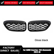For BMW F30 F31 3 Series Kidney Grill Grille Black Diamond 2012-2016 Protector