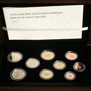 LATVIA LETTLAND LETTONIE Euro Coin Set 2015 PROOF (0030)