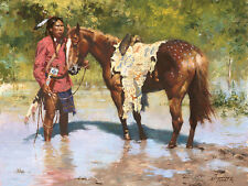 Howard Terpning DEEDS OF HIS FATHER Giclee Canvas Native American