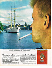 PUBLICITE ADVERTISING 044  1963   PEER EXPORT   cigarettes à STOCKHOLM