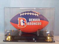 Football acrylic display case denver broncos superbowl memorabila 85% UV filter