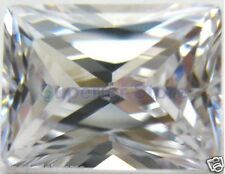 8.0 x 6.0 mm 1.75 ct RADIANT Cut Sim Diamond, Lab Diamond WITH LIFETIME WARRANTY