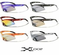 X-Loop Mens Sport Shield Sunglasses Cycling Running Triathalon Fishing Wrap 129