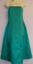 Ladies  DEBUT turquoise satin strapless evening dress Size 10