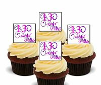 13th Birthday Girl Edible Cupcake Toppers, Standup Wafer Fairy Cake Decorations
