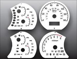 White Face Gauge Kit Fits 2007-2010 Hyundai Elantra Dash Instrument Cluster