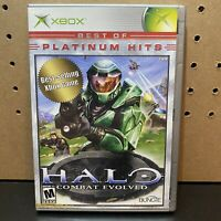 Halo: Combat Evolved (Microsoft Xbox, 2001)-Complete W/ Manual-Tested-Fast Ship!