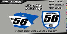 Yamaha YZ 250F OR YZ 450F  Pre Printed Number plate Backgrounds BASIC SERIES