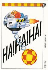 1993 TOPPS SONIC THE HEDGEHOG STICKER CARD #28 HA! HA! HA!