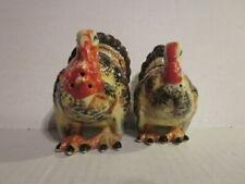 Vintage Thanksgiving Turkey Pair Salt & Pepper Shakers