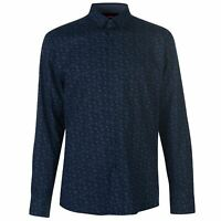Pierre Cardin Mens Floral Shirt Long Sleeve Casual Cotton Print Chest Pocket