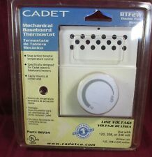 Cadet White Baseboard Heater Thermostat Control BTF2W 08734 DOUBLE POLE 120-240V