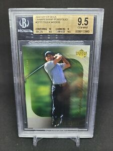 Tiger Woods 2004 Upper Deck Championship Portfolio CP11 BGS 9.5 GEM MINT