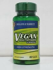 HOLLAND & BARRETT VEGAN MULTIVITAMIN & MINERAL HIGH STRENGTH 60 TABLETS
