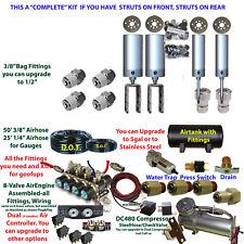 Most Honda Civic Accord thru 2000 Front&Rear Air Suspension Kit all components