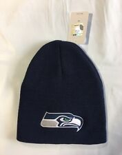 Seattle Seahawks Knit Beanie Winter Hat Toque Skull Cap New - Blue