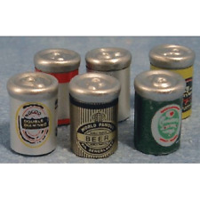 Dolls House Miniatures 1/12th Scale Accessory Beer Cans D644 New