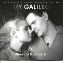 Eurovision Song Contest 2004 Belarus My Galileo Alexandra Konstantin CD Single