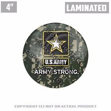 "1 Custom Thick Laminated Glossy 4"" 3M Premium Decal Sticker US ARMY CAMO GREEN"