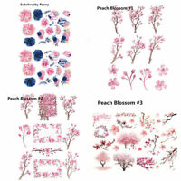 Peach Flower Peony Self-adhesive Stickers for Scrapbooking Sticker Album Decor