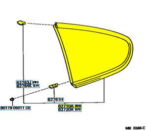 TOYOTA GENUINE OEM 62710-14280 WINDOW ASSY, QUARTER, RH 6271014280