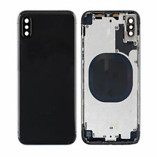 For  iPhone X  Replace Housing Back Cover Metal Glass Case + Original Logo