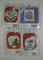 4 New Berlin Cross Stitch Christmas Ornament & Kitchen Magnet New Baby Frame LOT