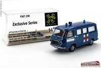 BREKINA - H0 1:87 - Furgone Fiat 238 versione ambulanza POLIZIA