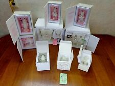 Department 56 Snowbunnies Bisque Figurines Lamps Lot/9 OG Boxes Wagon Easter Exc
