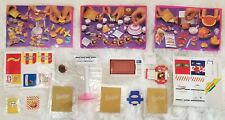 1995 Barbie Fun Fixin' Lot Microwave, Grill & 3 Sets Accessories Stickers & Bags