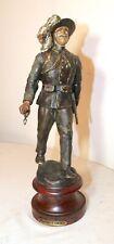 antique hand painted metal Italian Bersaglieri Army Soldier Statue sculpture ;