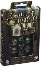 Noir & Fluorescent Dés de jeux L'appel de Cthulhu par Q-workshop
