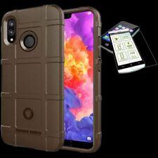 Para Huawei Honor 8X Bolsa Shield TPU Funda de Silicona Marrón + 0,26 H9