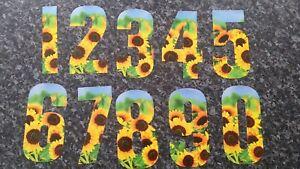 Sunflower Multi Purpose Wheelie Bin Number Stickers - 7inch/17cm