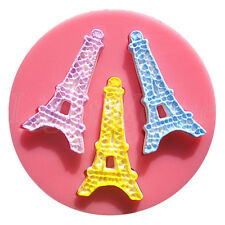 3D Eiffel Tower Silicone Fondant Mold Cake Decorating Chocolate Baking Mould 74