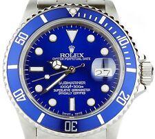 Rolex Submariner BLUE 16610 Custom Bezel & Dial Stainless Steel Men's Dive Watch