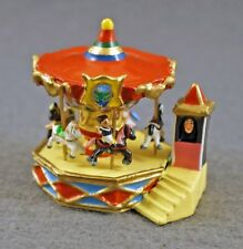 J CARLTON BY GAULT FRENCH MINIATURE AMAZING CAROUSEL IN PARIS PARK FIGURINE