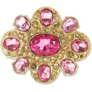 Lindsay-Phillips Switch SNAP EDITHE Pink Rose Medallion featuring Rhinestones