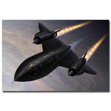 SR-71 Blackbird Aircraft Military Art Silk Fabric Poster 13x20 24x36 inches