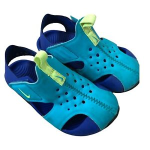 Nike Sunray Protect 2 Blue Toddler Shoes Sz 7c Sandals Summer Vacation Hook&Loop