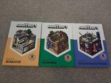 Minecraft Books Hardback X3
