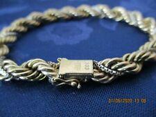 Armband Kordelarmband mit Venezianischer Kette umwickelt in 333/8K Gelb/Weißgold