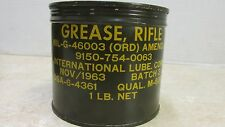 Vietnam Era Rifle Grease 1 Lb Can Nov 1963 Dated M1 Garand 7.62Mm