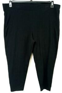 Torrid black spandex stretch elastic waist pull on legging pants 4, 4X