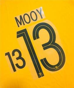 #13 MOOY NAME NUMBER SET FOR 2018 WORLD CUP AUSTRALIA SOCCEROOS HOME JERSEY