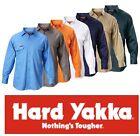 HARD YAKKA MENS DRILL LONG SLEEVE WORK SHIRTS Y07500