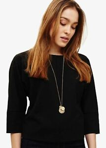 Phase Eight Dahlia Charm Long Necklace Gold RRP29
