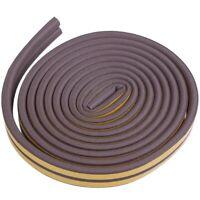 D-tipo guarnizione porte finestre adesiva 5M PVC parafreddo Colore: marrone M7L1